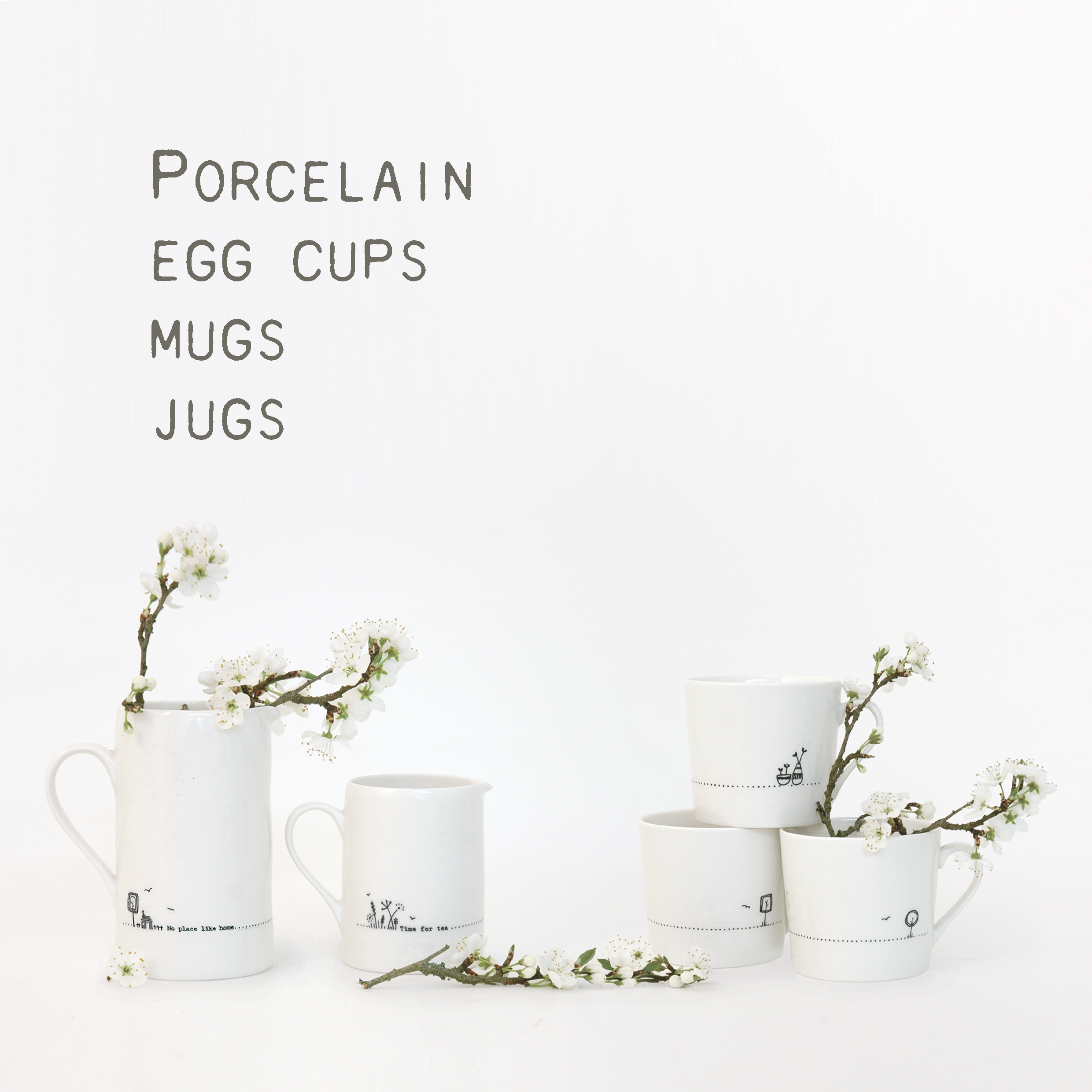 Mugs, Jugs & Egg cups