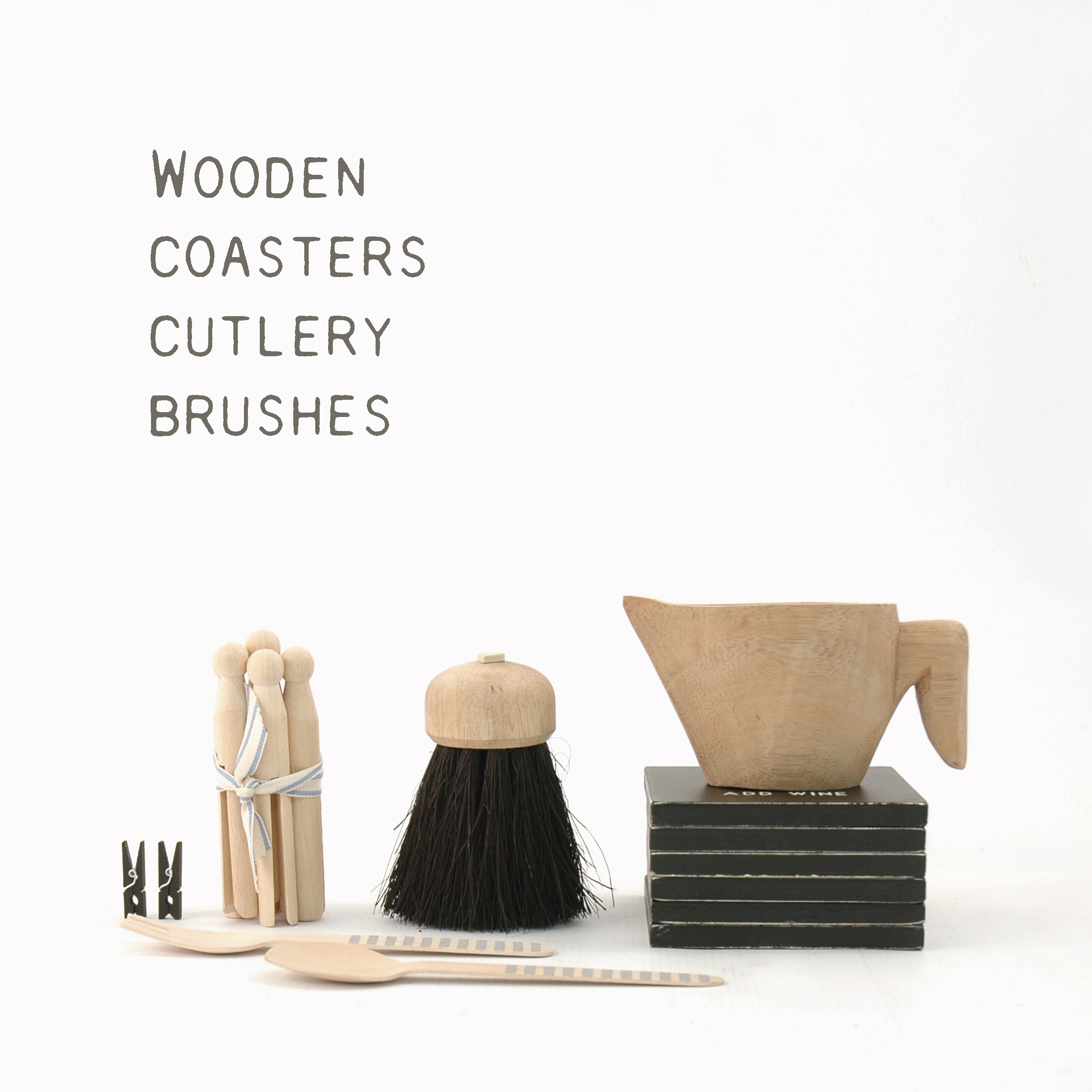 Coasters, Cutlery & Brushes