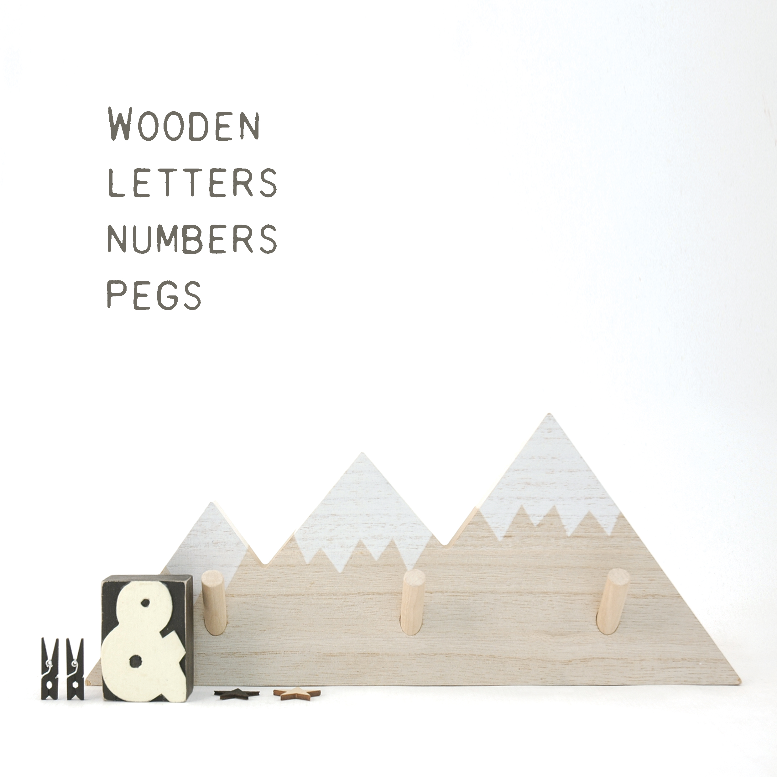 Letters, Numbers & Pegs