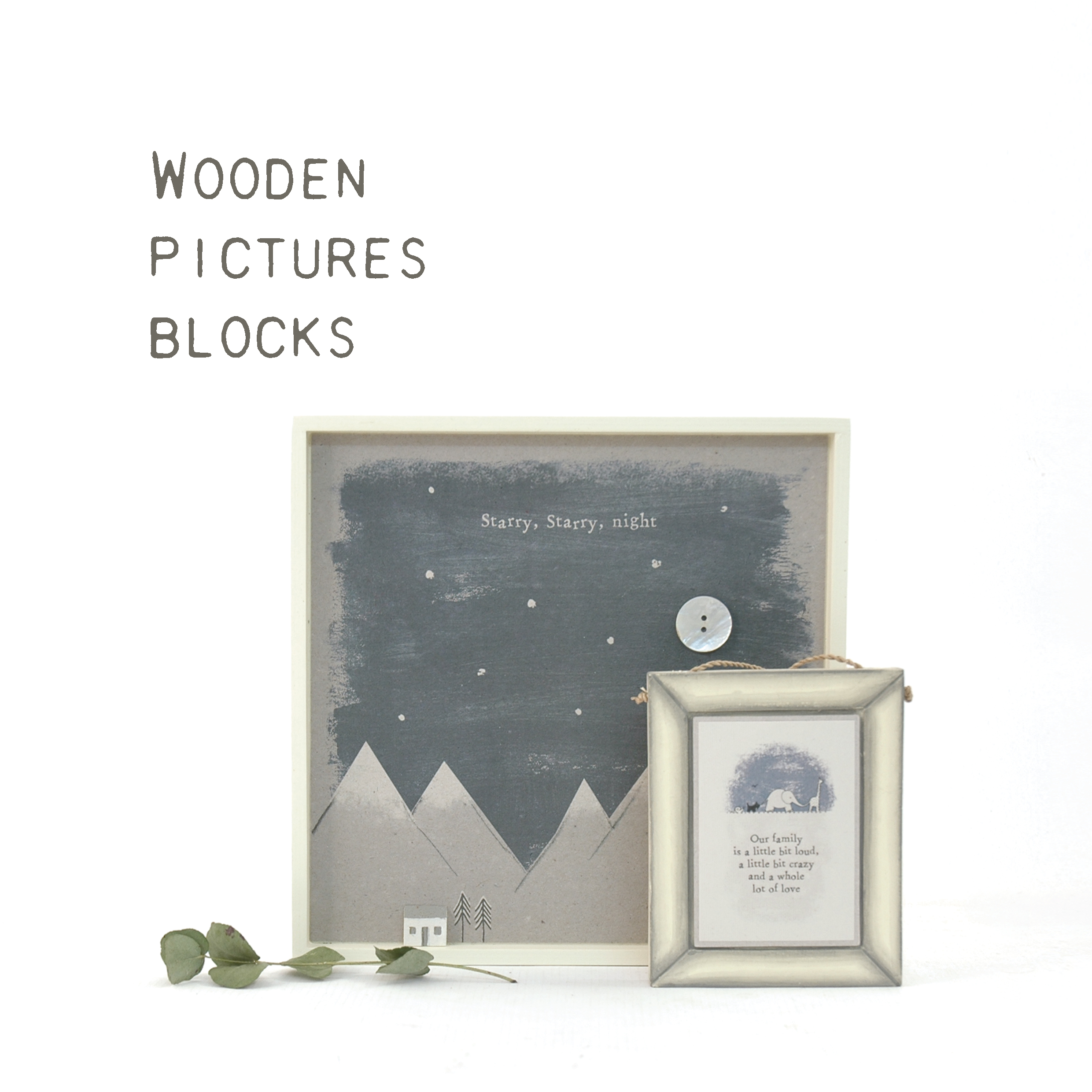 Pictures & Wooden blocks
